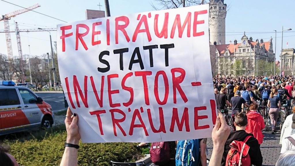 Freiräume statt Investorenträume: Demo in Leipzig am 6. April 2019